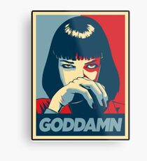 Goddamn - Pulp Fiction Metal Print