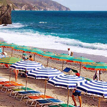 Parasol Mania - Cinque Terre - Italy by Photograph2u