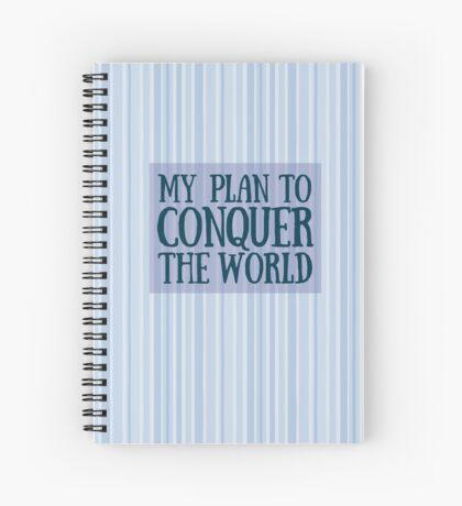 Conquer the World Spiral Notebook