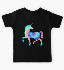 Tie Dye Unicorn | Colorful Tye Dye Horse Horn Kids Tee