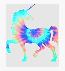 Tie Dye Unicorn | Colorful Tye Dye Horse Horn Photographic Print