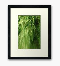 Greenfall (conceptual) Framed Print