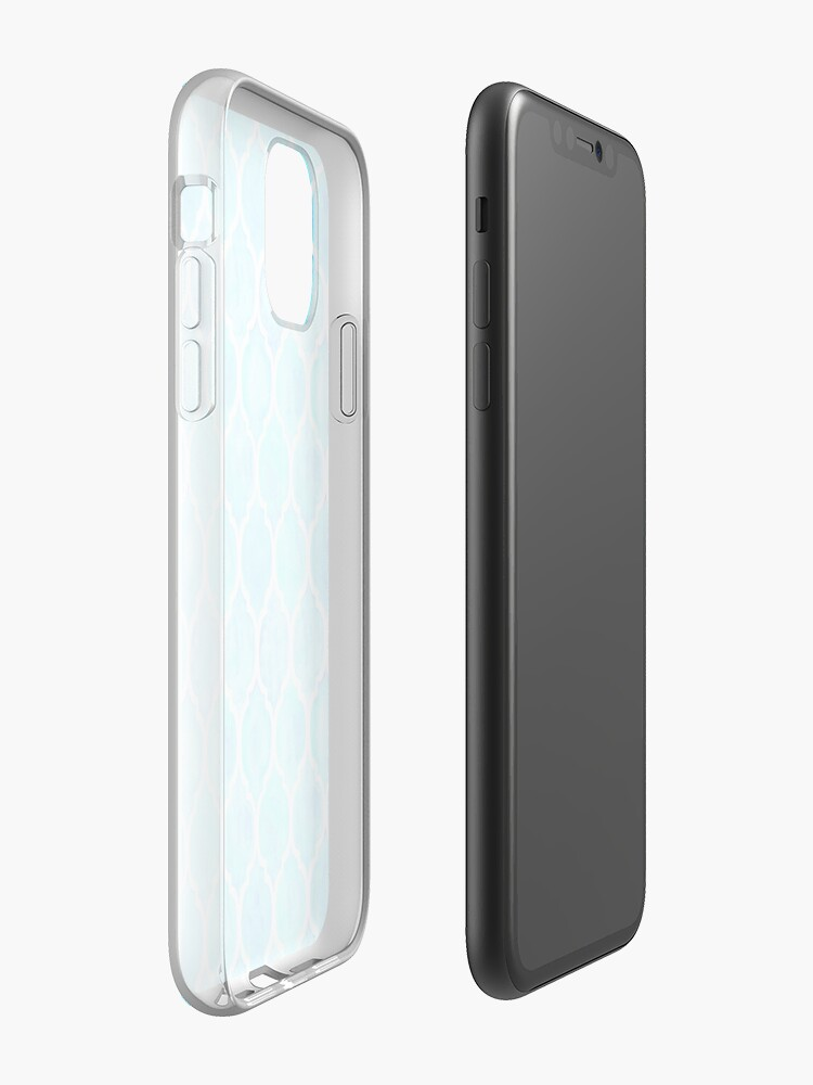 Coque iPhone «Motif de tessellation esthétique bleu», par StylishTayla