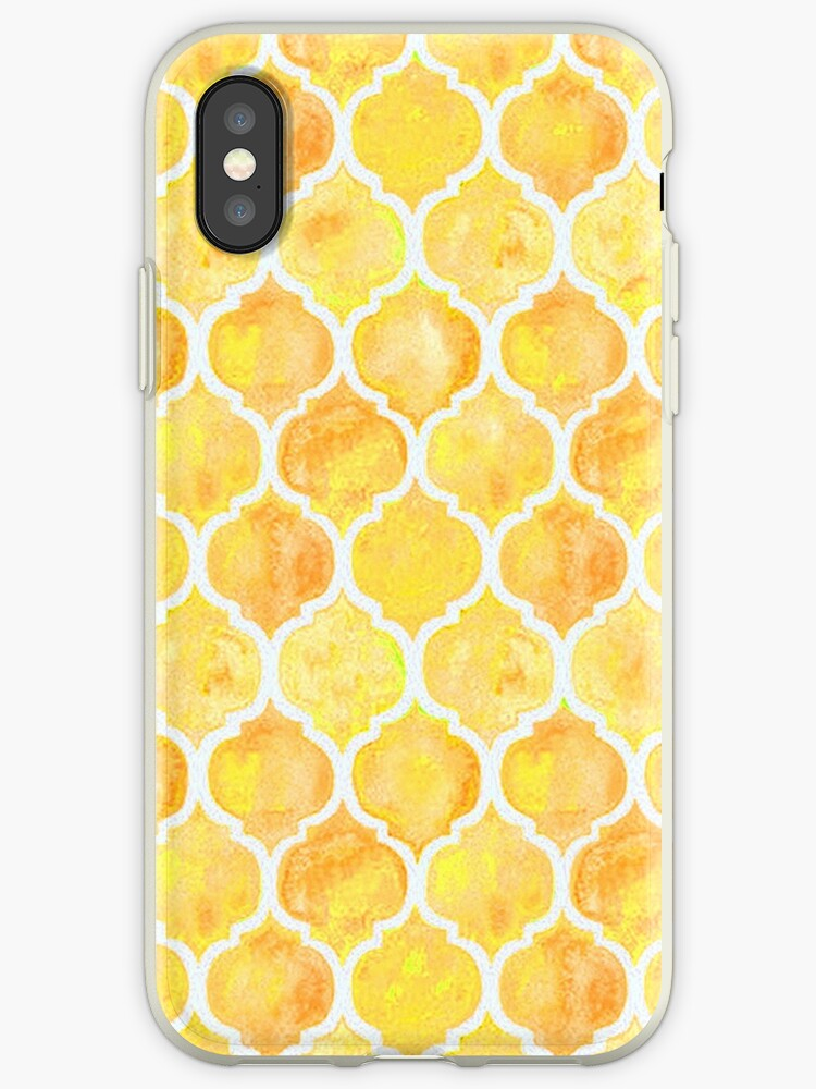 best service eeb0f a9a08 'Yellow Aesthetic Tessellation Pattern' iPhone Case by Tayla Williams