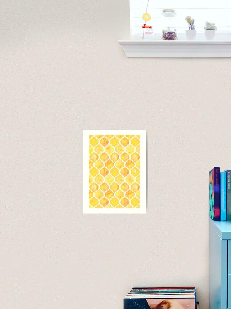 Yellow Aesthetic Tessellation Pattern Art Print By Stylishtayla