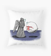 Too Shy Throw Pillow