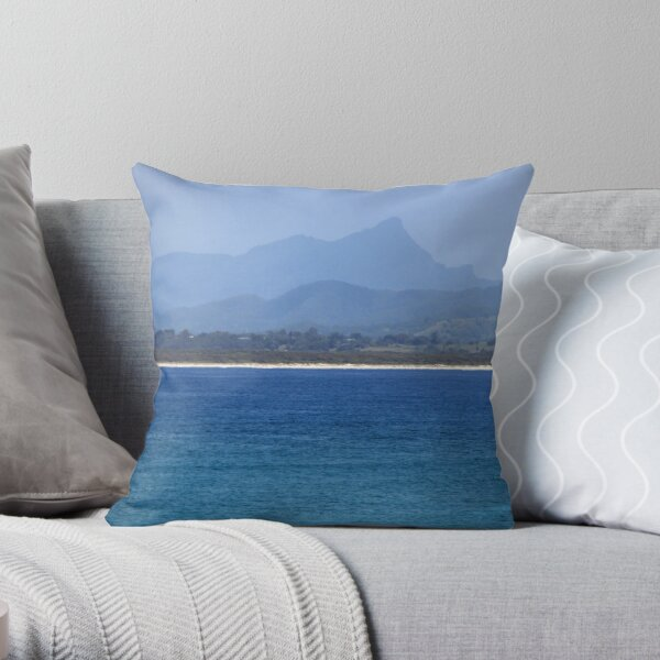 Mt Warning from Byron Bay, New South Wales (Australia) Throw Pillow