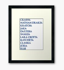 Playstation Characters Framed Print