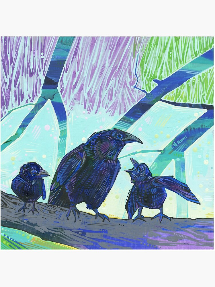 Crow Family Painting - 2012 by gwennpaints