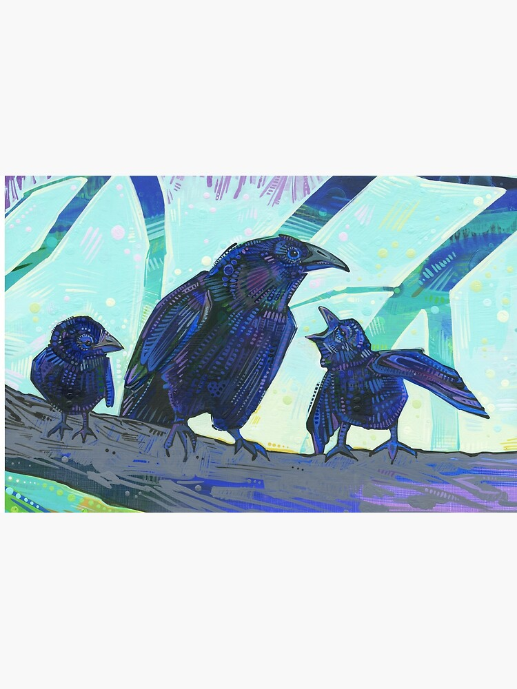 American crow painting - 2012 by gwennpaints