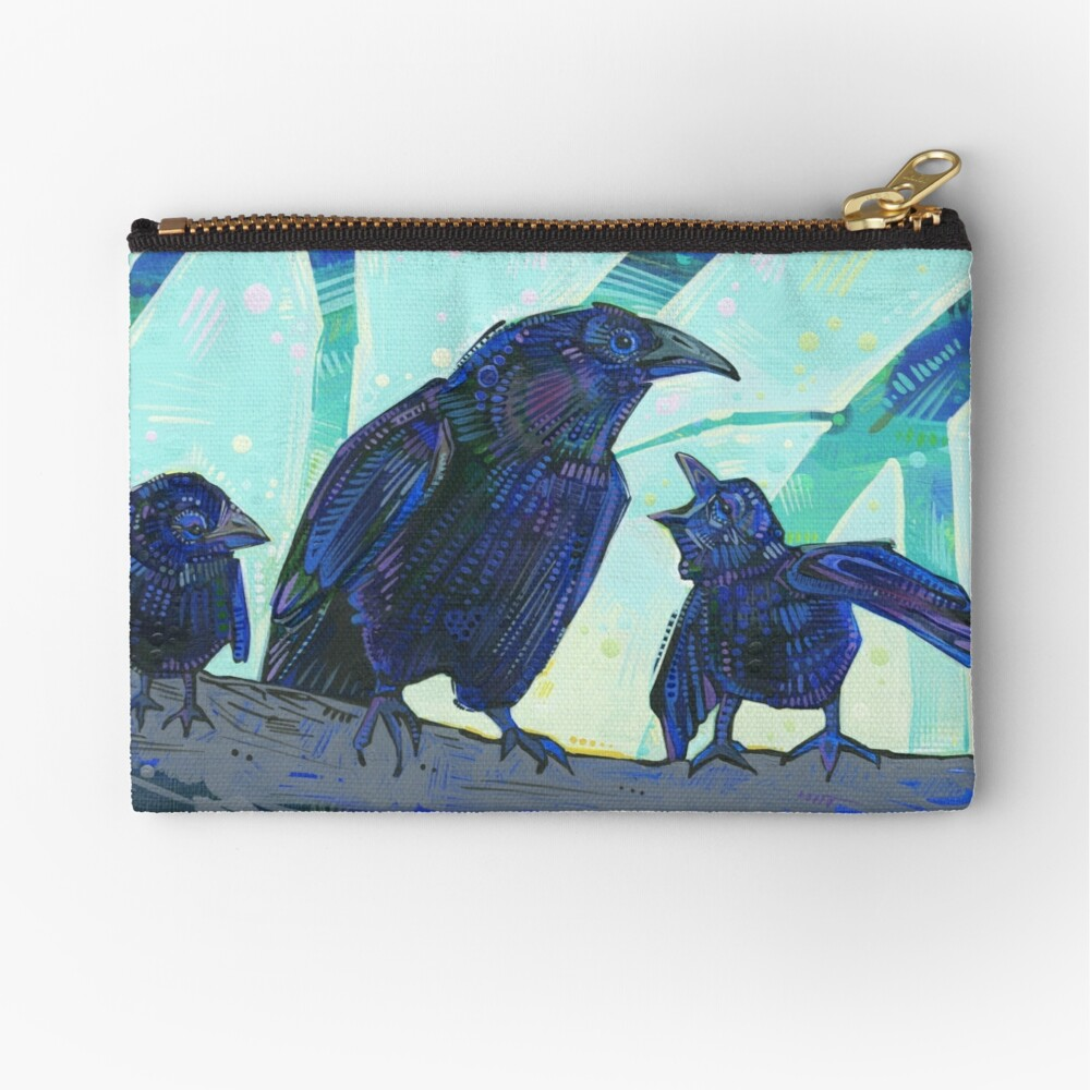 American crow painting - 2012 Zipper Pouch