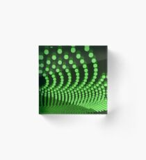 Movie Marquee Green Acrylic Block