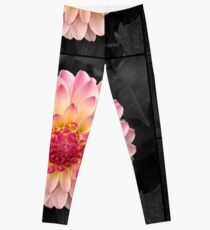 Pink Flower Art for Fashion and Home decor Leggings