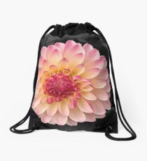 Pink Flower Art for Fashion and Home decor Drawstring Bag