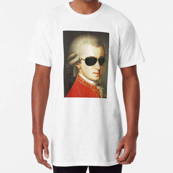 Mozart Wearing Sunglasses Long T-Shirt