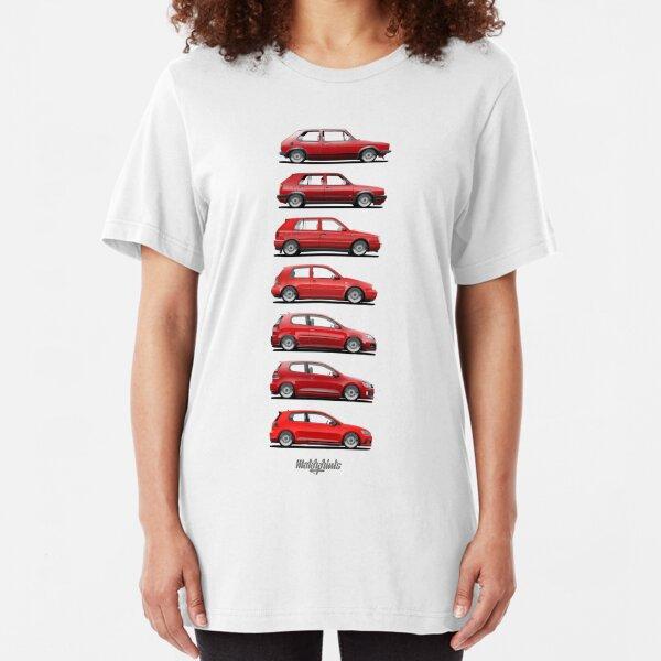 Generation Golf GTi (red) Slim Fit T-Shirt