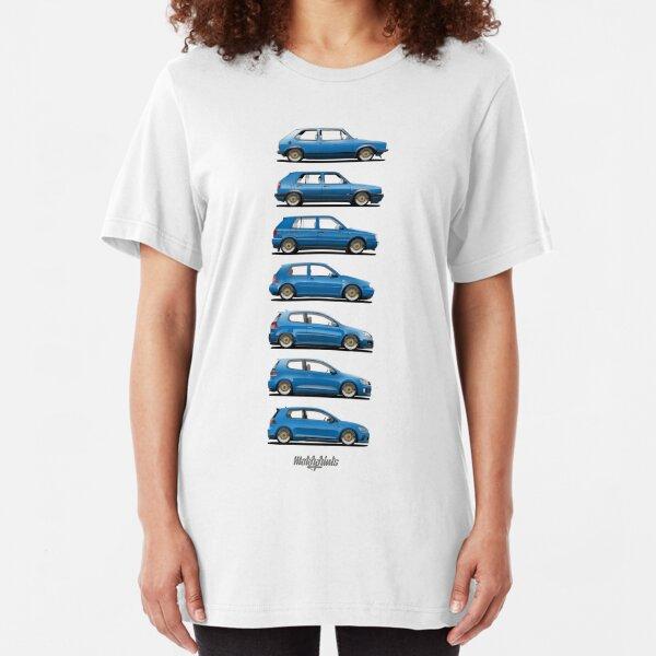 Generation Golf GTi (blue) Slim Fit T-Shirt