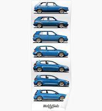 Generation Golf GTi (blue) Poster