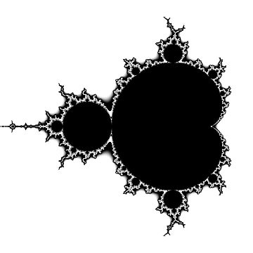 Mandelbrot Outline Black & White by rupertrussell