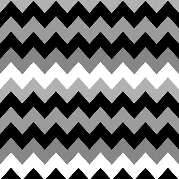 Black, White and Gray Chevron by DonnaSiggy