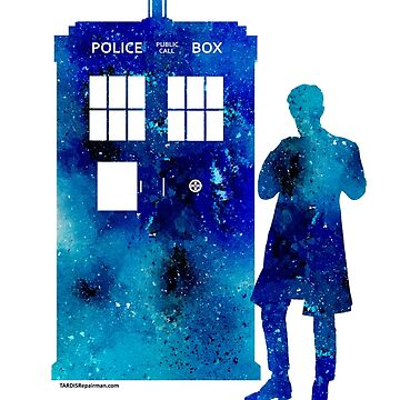 The 11th Doctor with the TARDIS by TARDISRepairman