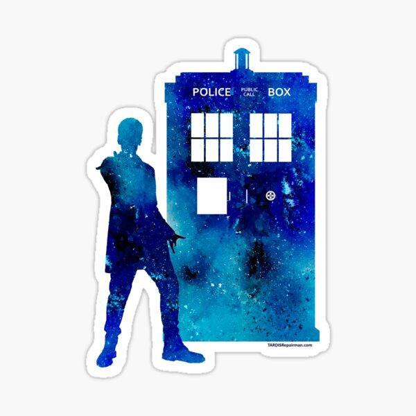 The 12th Doctor with the TARDIS Sticker