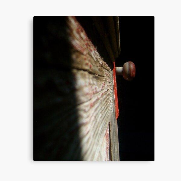 red doorknob 2 Canvas Print