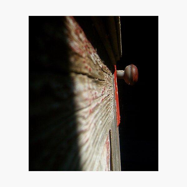 red doorknob 2 Photographic Print