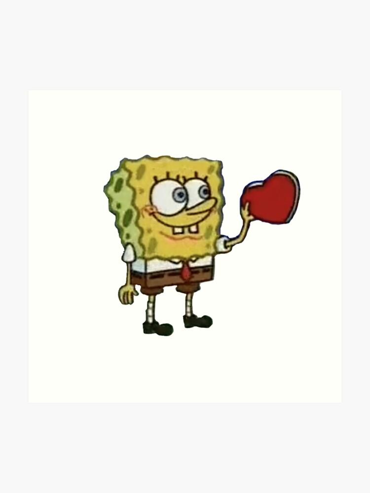 spongebob wholesome heart | Art Print