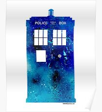 TARDIS Art Print - Doctor Who Poster