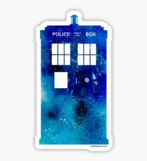 TARDIS Art Print - Doctor Who Sticker