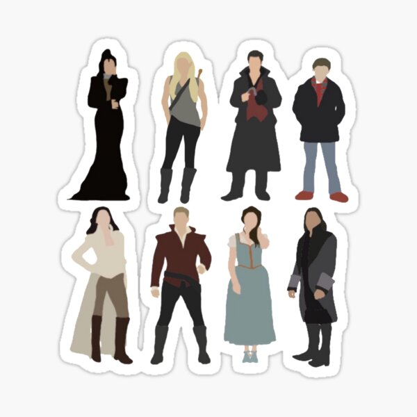 OUAT Main Characters Sticker