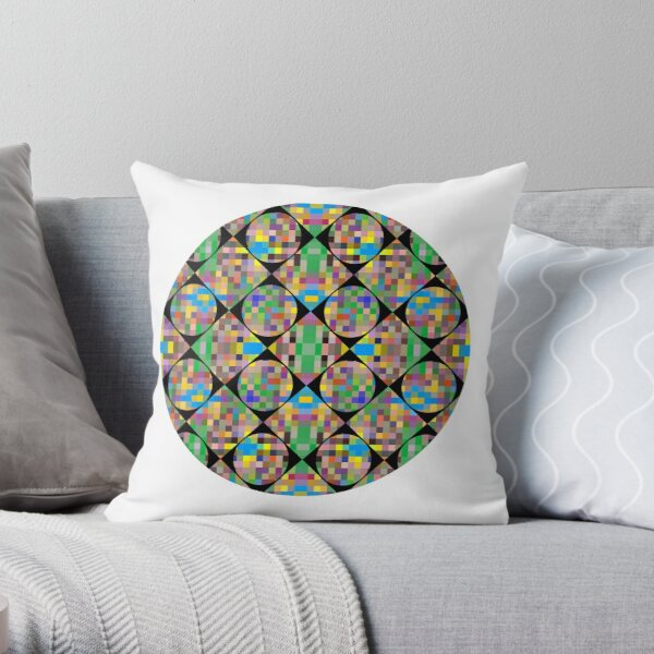 Pattern, tracery, weave, template, routine, refined, exquisite, elegant Throw Pillow