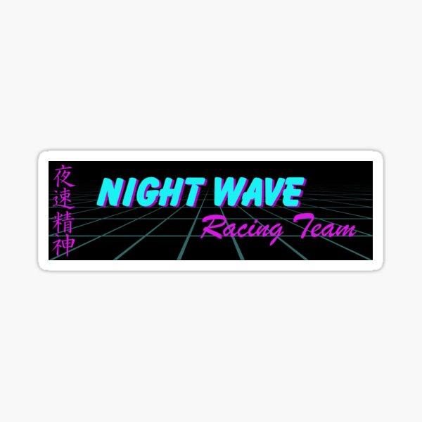 Night Wave Drift Slap Sticker