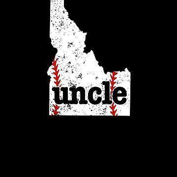 Softball Uncle Shirt Idaho Baseball Uncle Shirt by shoppzee