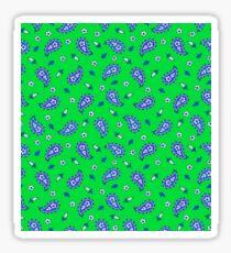 Blue paisley Sticker