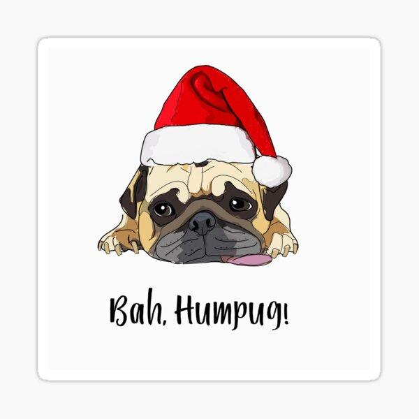 Bah Humpug-Santa Dog Sticker