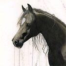 Dark Horse Running by evequineart