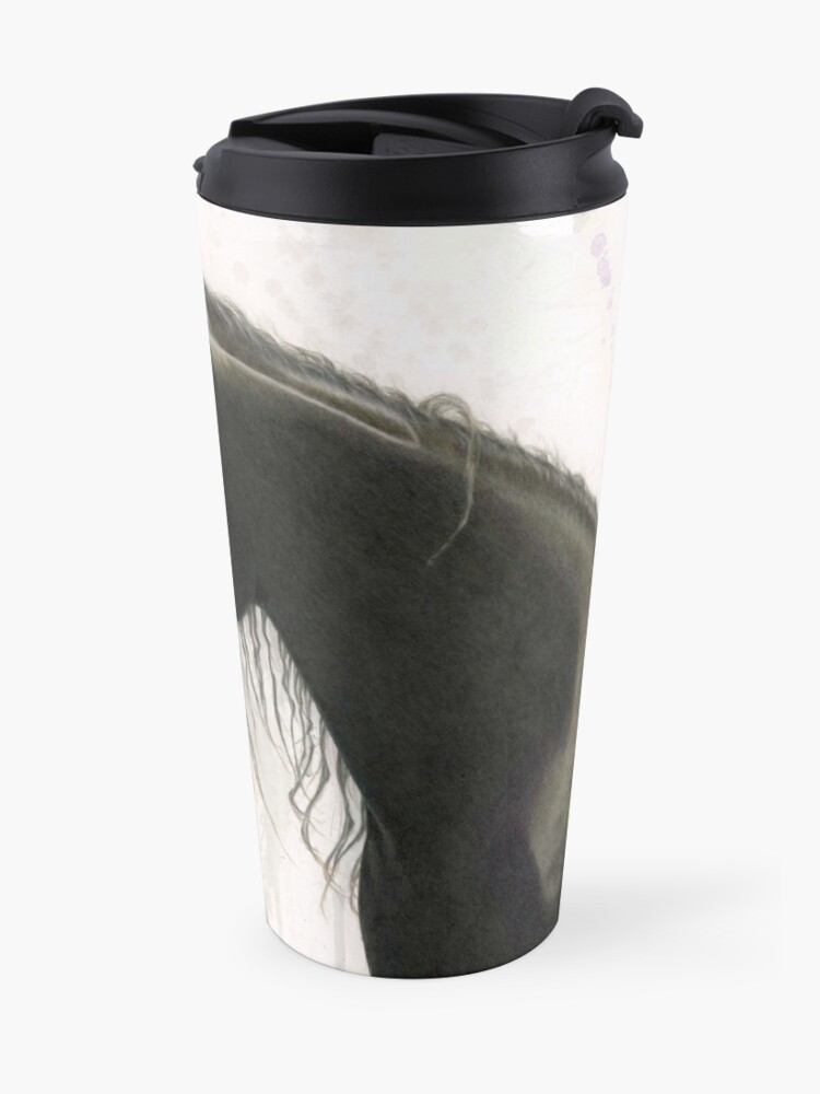 Alternate view of Dark Horse Running Travel Mug