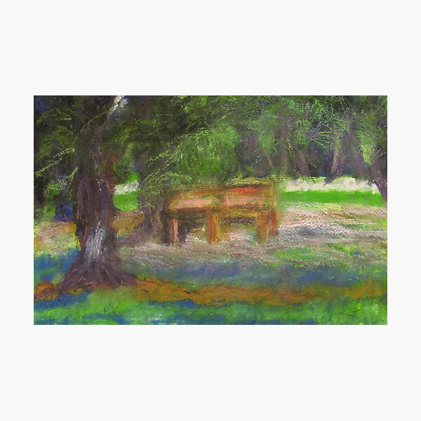 A Chair in a Park, 2008 Photographic Print