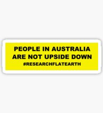 Pegatina Diseños Flat Earth - Gente en Australia