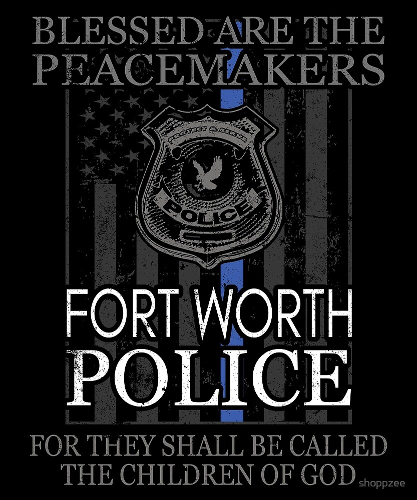 Fort Worth Police Support Saint Michael Police Officer Prayer by shoppzee