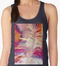Mujer De Para Avestruz Pluma Tirantes Camiseta q617WPR