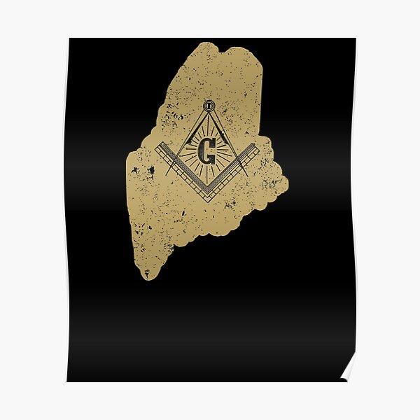 Maine Freemason Shirt With Freemason Emblem Poster