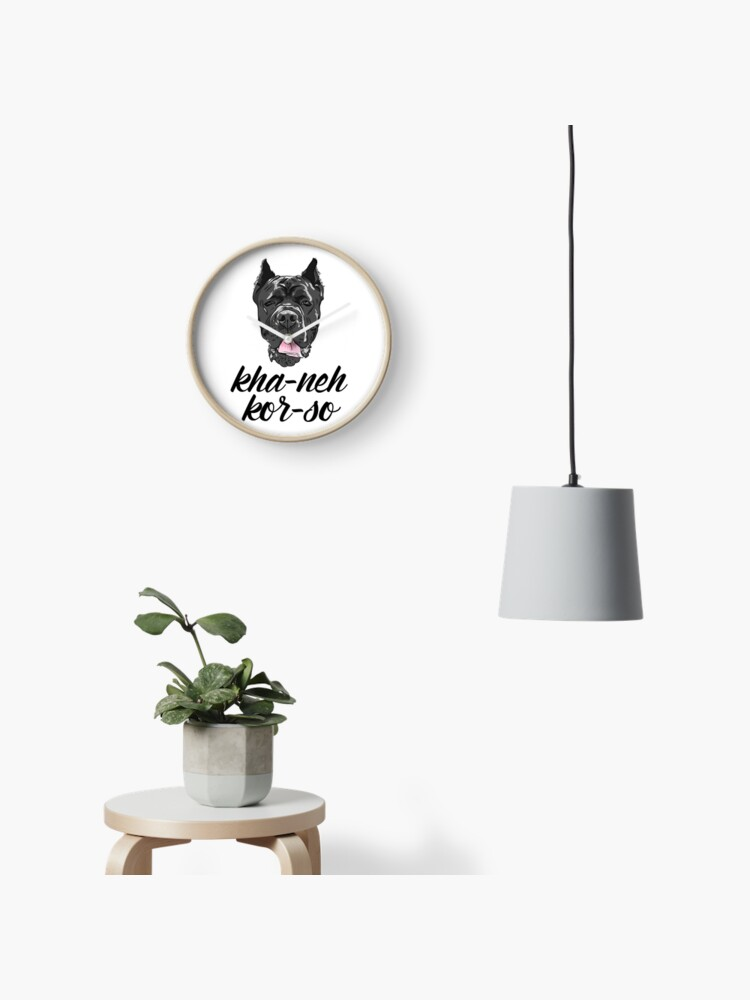Cane Corso full color Corso with phonetic spelling | Clock
