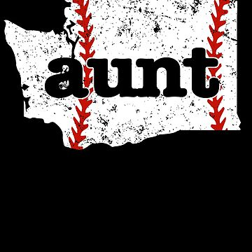 Aunt Softball Washington Baseball Aunt Tee Shirt by shoppzee
