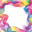 Regenbogen-Bänder-Hintergrund von kennasato