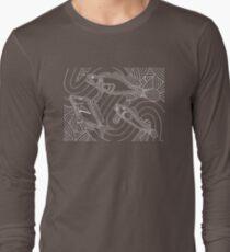 Aarli - school of fish / Simply white  Long Sleeve T-Shirt
