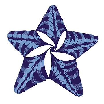 Blue Sails Zentangle Star  by gretassister