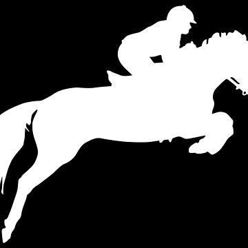 Horse Jumper Design in White by jnmvinylstudio